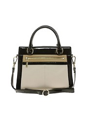 Karen Millen Leather Colourblock Small Bag