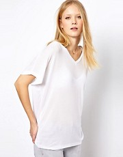 Selected Exclusive To ASOS Tecca V-Neck Tee in Lightweight Rib Jersey
