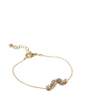 Image 1 ofASOS Rainbow Moustache Charm Bracelet