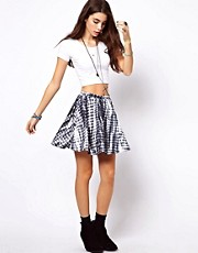 ASOS Skater Skirt in Tie Dye Print