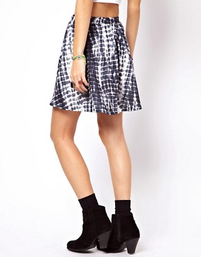 Image 2 ofASOS Skater Skirt in Tie Dye Print