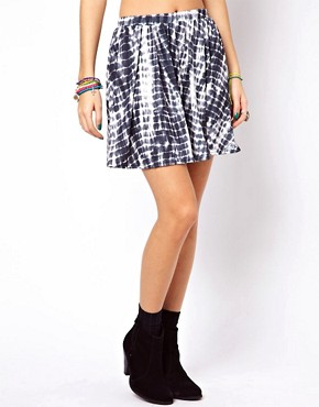 Image 4 ofASOS Skater Skirt in Tie Dye Print