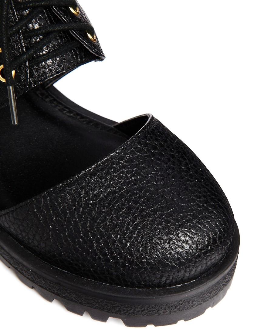 Image 2 ofASOS MAYDAY Cut Out Flat Shoes