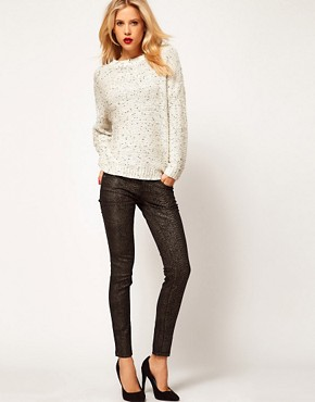Image 4 ofMango Skinny Jean In Metallic Snake Jean