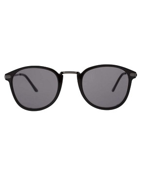 Image 2 ofASOS Metal Bridge Detail Retro Sunglasses