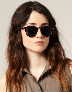 Image 3 ofASOS Metal Bridge Detail Retro Sunglasses