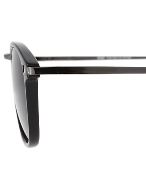 Image 4 ofASOS Metal Bridge Detail Retro Sunglasses