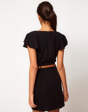 Image 2 ofASOS Mini Tulip Dress with Flute Sleeves