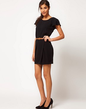 Image 4 ofASOS Mini Tulip Dress with Flute Sleeves