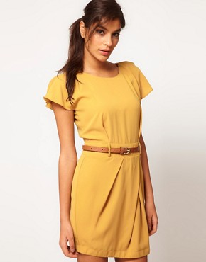 Image 1 ofASOS Mini Tulip Dress with Flute Sleeves