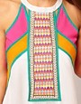 Image 3 ofRiver Island Embroidered And Fringed Front Dress