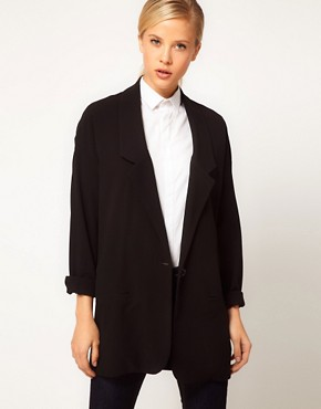 Image 1 ofASOS Crepe Boyfriend Blazer