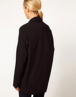 Image 2 ofASOS Crepe Boyfriend Blazer