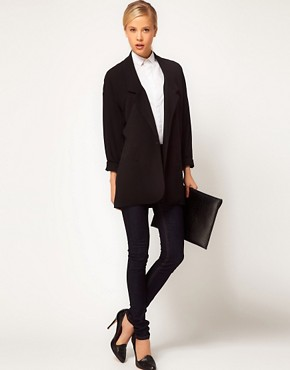 Image 4 ofASOS Crepe Boyfriend Blazer