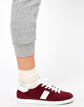 Image 3 ofASOS DALEY Trainers with Suede Detail