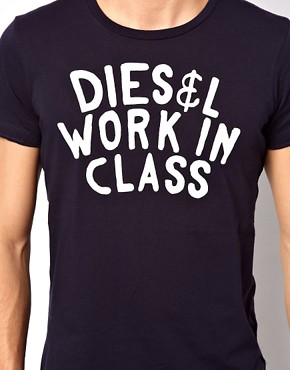 Image 3 ofDiesel T-Shirt T-Sandy Work In Class Logo