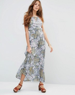 Raga Sunset Blues Maxi Dress