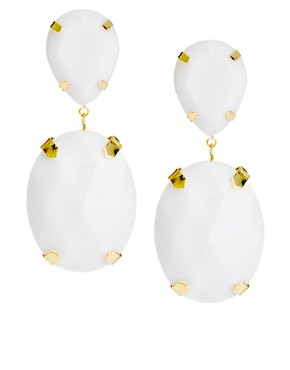 Image 1 ofASOS Gem Drop Earrings