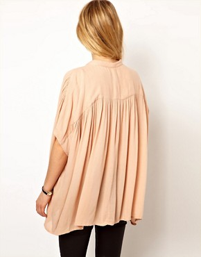 Image 2 ofMango Cheesecloth Slouch Shirt