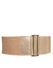 Mango Simple Glitter Stretch Belt