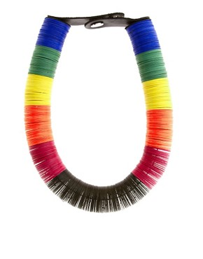 Image 1 ofASOS Sequin Disc Tube Necklace