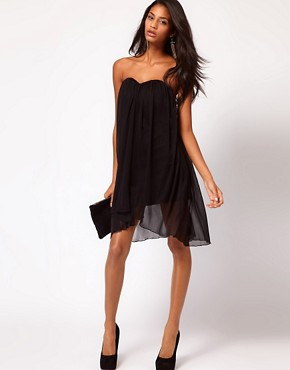 Image 4 ofASOS Strapless Dress In Mesh