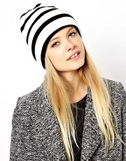 ASOS Stripe Boyfriend Beanie