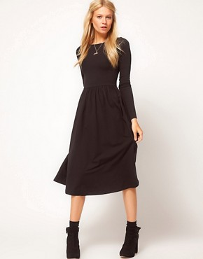 Image 1 of ASOS Midi Dress With Long Sleeve
