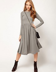 ASOS Midi Dress With Long Sleeve