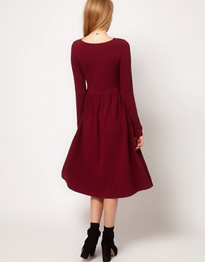 Image 2 of ASOS Midi Dress With Long Sleeve