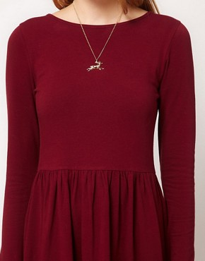 Image 3 of ASOS Midi Dress With Long Sleeve