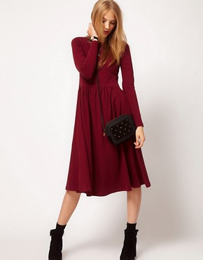 Image 4 of ASOS Midi Dress With Long Sleeve