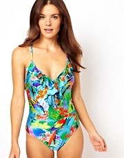 Seafolly Paradise Frill Front Swimsuit