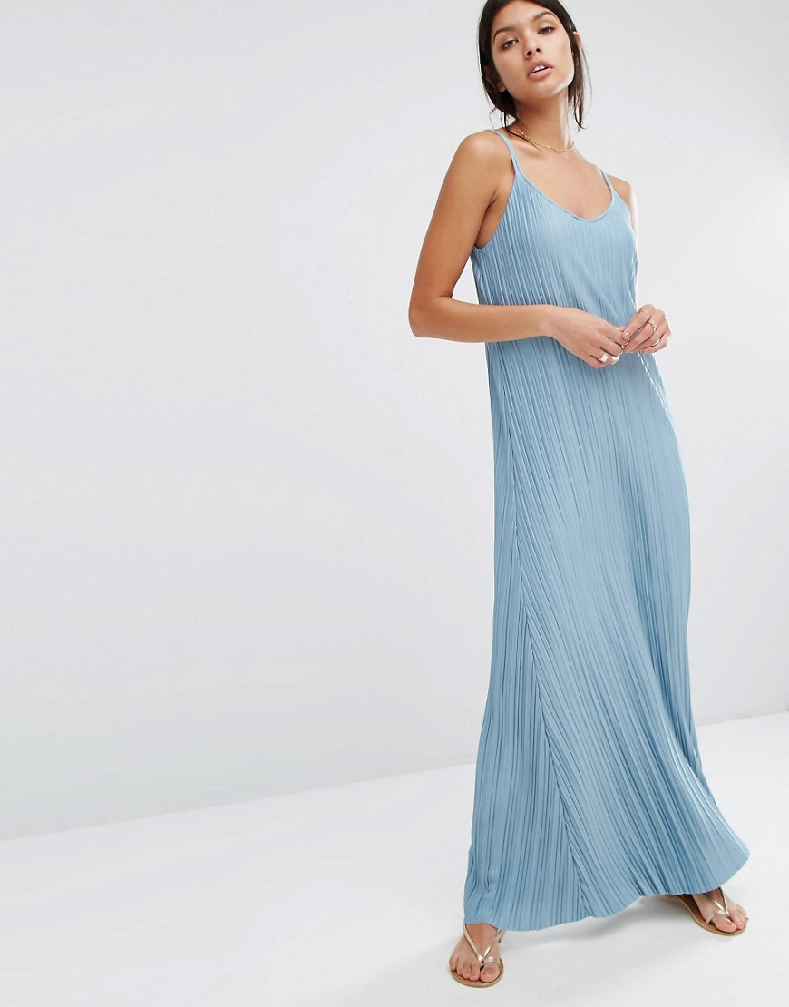 mango-pleated-maxi-dress-blue