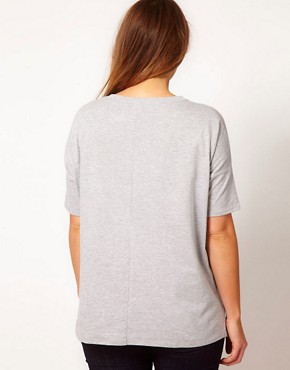 Image 2 ofASOS CURVE Exclusive T-Shirt With Posh Fox