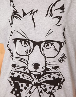 Image 3 ofASOS CURVE Exclusive T-Shirt With Posh Fox
