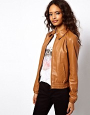 ASOS Retro Leather Bomber
