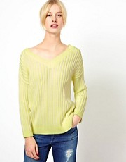 Boutique by Jaeger Neon Ribbed Reversible Chunky Knit