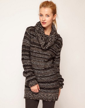 Image 1 ofDiesel Textured Roll Neck Jumper