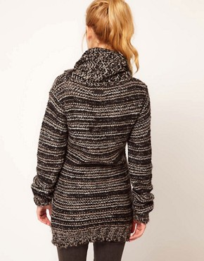 Image 2 ofDiesel Textured Roll Neck Jumper