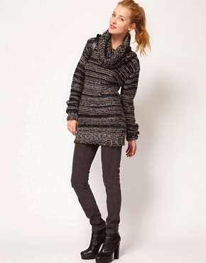 Image 4 ofDiesel Textured Roll Neck Jumper