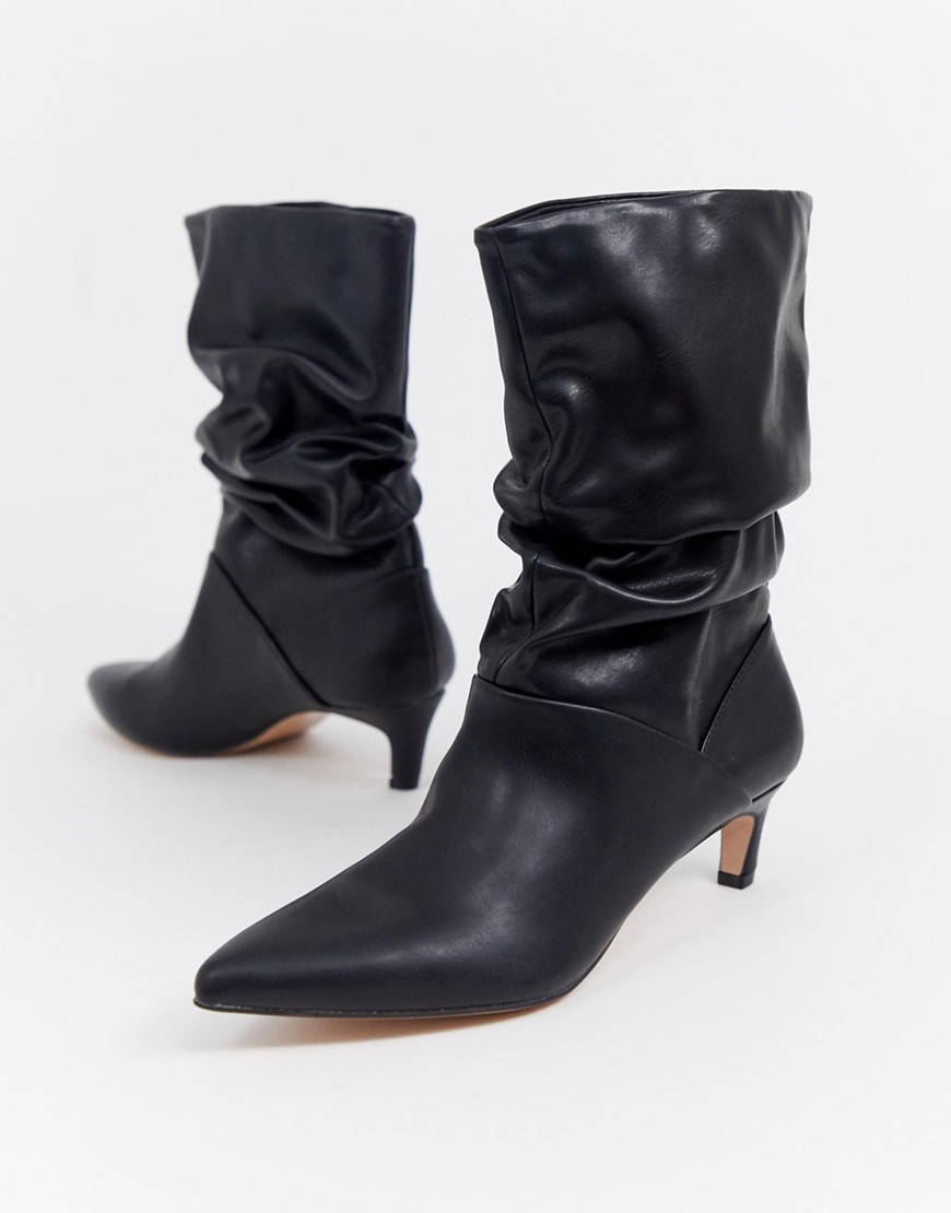 Stradivarius point toe slouch boot