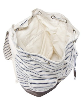 Image 2 ofASOS Striped Backpack