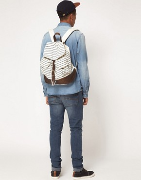 Image 3 ofASOS Striped Backpack