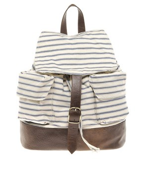Image 1 ofASOS Striped Backpack