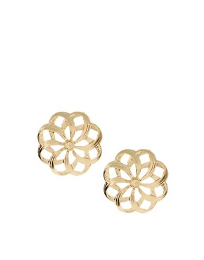 Image 1 ofASOS Cut-Out Flower Stud Earrings