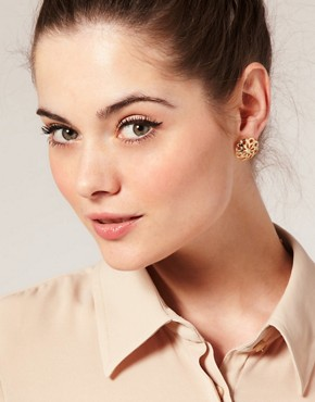 Image 3 ofASOS Cut-Out Flower Stud Earrings