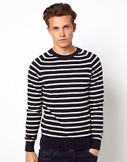 Wolsey Jumper With Breton Stripe