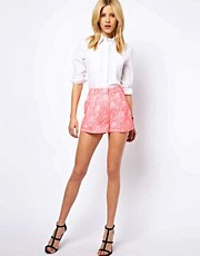 ASOS  Shorts mit neonfarbenem Jacquard-Muster