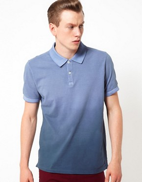 Image 1 ofBenson Polo With Dip Dyed Treatment